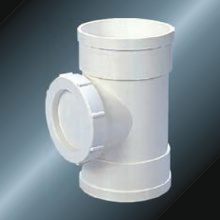 DIN Drainage Upvc Door Socket اللون الرمادي