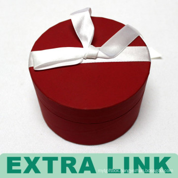 Red Round Shaped Luxury Double Layer Cardboard Chocolate Box