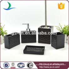 Accesorios de baño de cerámica negro al por mayor