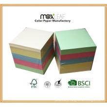 90 * 90 * 90mm Color Memo Pad / Papel Bonito / Cubo de papel