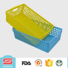 Kundenspezifischer haltbarer Plastikmehrzweckrechteckspeicherkorb für Verkauf