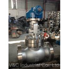 Válvula de globo de aço inoxidável flangeada ANSI com operação manual