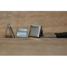 Extremidade do grampo do metal do preço de fábrica para o laço / grampo da extremidade do cabo para a correia