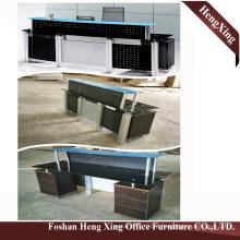 (HX-GL205) Metal Leg Glass Top Counter Table Modern Office Furniture