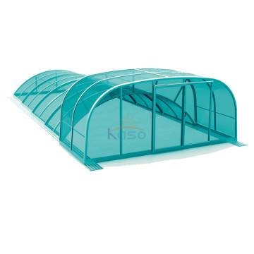 Polen Teleskopisk deksel Polycarbonate Swimming Pool Roof