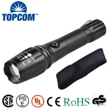 TP-1877 XML T6 / U2 LED Powerful Light / Zoomable Power Flashlight With Nylon Bag