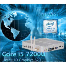 7th Generation Fanless Mini PC Core I5 7200u I3 7100u Intel HD Graphics620 14 Nm Wind10 Barebone 4k HTPC Desktop Computer