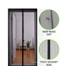 """Factory sale Magnetic  Screen Door  with Full Frame hook&loop and lace 39""""*83"""""""