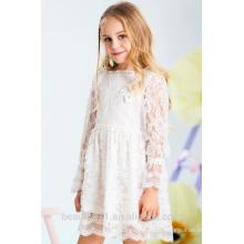 Robe de fille à fleurs écharpe à encolure manches sans bretelles filles dans une robe de nuit chaude ED776