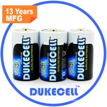 Baterias alcalinas quentes dos produtos D / Lr20 com as baterias alcalinas do AAA do revestimento da folha