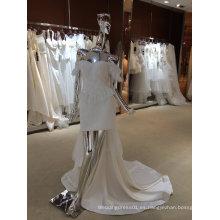 Vestido de boda verdadero de la muestra de la nueva llegada europea de moda de la marfil