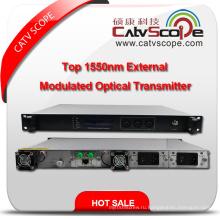 Профессиональный поставщик высокопроизводительных CATV 1550nm внешний внешний модулированный оптический передатчик лазера