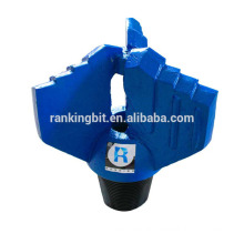 Drag bit drilling forging process 118mm 3 blades drag bit for oil drilling water drilling