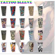 2014 gros Ouest haute qualité en nylon cool faux tatouage bras manches Chine fournisseur