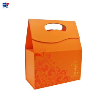 Orange packaging gift box with handle