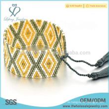 Mehrfarben Samen Perlen wickeln Armband, kleine Perlen Armband mit Fransen