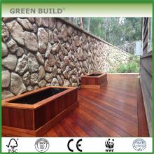 Mocha distressed crack-resistant solid merbau garden decking