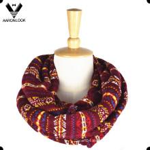 Bufanda multicolora del diseñador del patrón del telar jacquar de la nueva manera 2016