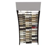 Metal Material Flooring Custom Marble Retail Showroom Promotional Quality Waterfall Stone Display Rack