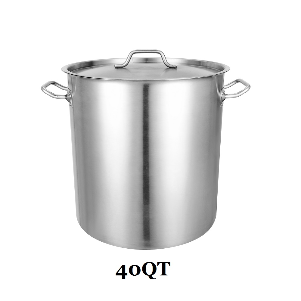 Stainless Steel Stock Pot Cookware 40 Quart