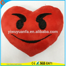 Hot Selling High Quality Novelty Design Red Love Pillow with Cute Expression