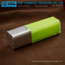 ZB-RK30 30ml оптом 100% контроль качества 1oz безвоздушного Квадратные пластиковые бутылки