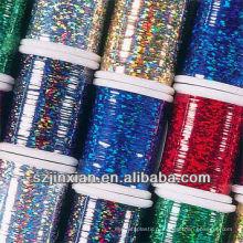 цветастая металлическая пряжа вышивки полиэфира пряжа