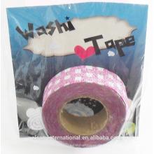 glitter japanisches washi tape wholesale / kundenspezifisches gedrucktes Klebeband