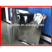 Silver color High reflective alu foil metallized PET Polyester film