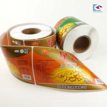 Etiqueta del rollo de aceite comestible impresa a color Etiqueta engomada del agua del barrel aduana