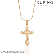 32289-XupingJewelry pendentif croix en plaqué or vente chaude