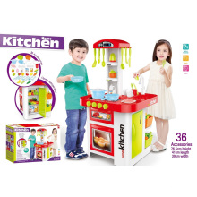 Super Western-Style Kitchen Toys-with Open Refrigerator and Water Outlet