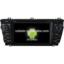 Android! gps del dvd del coche para 2014 corolla Prado + android 4.2 + dual core + pantalla táctil capacitiva + OEM