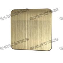 Hohe Qualität 430 Edelstahl Hairline Blatt für Dekoration Materialien