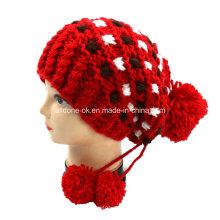 Ручная трикотажная пиратская шляпа, вязаная зимняя шапочка, теплый шапочный шлем