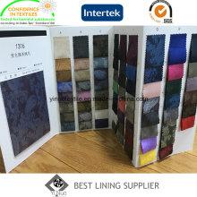 Men′s poliéster 100 terno Jacquard forro tecido estoque pronto mais de 100 cores China fornecedor