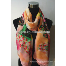 100% Polyester Heart Shape Printed Scarf