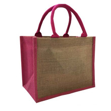Eco Friendly Large Jute Bag Oem Customized Printing Tote 380gsm Jute Material Sewing Eco-friendly, Superior Quality Natural