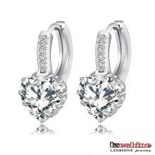 Coeur Zircon femmes mariage Huggie Earring (CER0151-B)