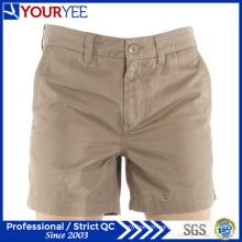 Short Lightweight Khaki Cotton Twill Womens Work Shorts (YGK116)
