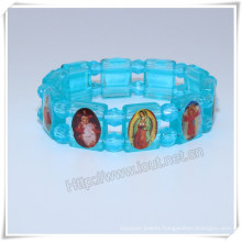 Wholesale Catholic Plastic Rosary Bracelet, Religious Rosary Bracelet (IO-CB162)