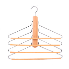 Assessed Supplier PENGFEI natural space saving folding multi layer clothes hanger for pants towel scarf