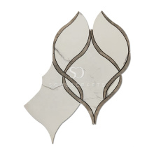 Soulscrafts White Porcelain Waterjet Mosaic Tile
