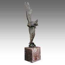 Estatua de latón animal Decoración de águila Escultura de bronce Tpal-194