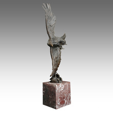 Animal Brass Statue Eagle Decoration Bronze Sculpture Tpal-194