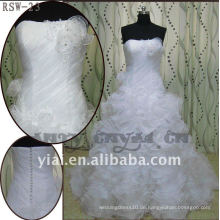 RSW-23 Qualität 2011 neue Entwurfs-Dame-moderne elegante schöne Rüsche kundengebundenes Brautkleid