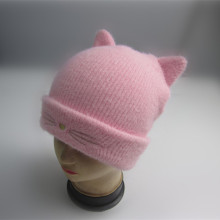 Flickor Novelty Cat Beanie With Brodery