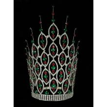 12 pulgadas Rhinestone concurso Miss World Crown