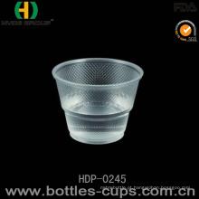 Copo descartável da água da linha aérea do copo do plástico de 9 onças