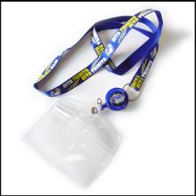 Polyester rétractable / impression en nylon / lanières faites sur commande imprimées avec la carte d'identification / support de badge